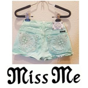 Miss Me Neon Green Shorts